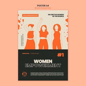 Szablon druku upodmiotowienia kobiet