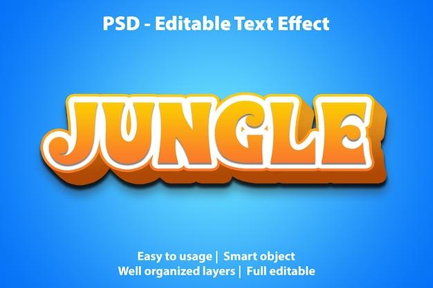 Szablon dżungli z efektem tekstowym
