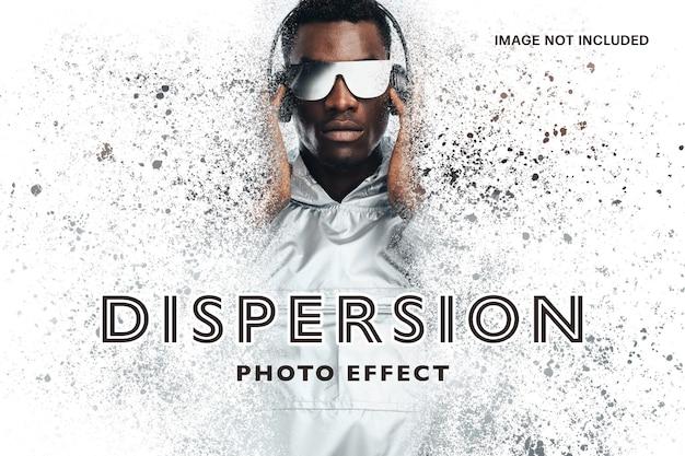 Szablon efektów fotograficznych dyspersji