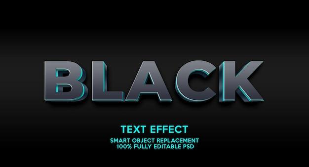 Szablon efektu czarnego tekstu