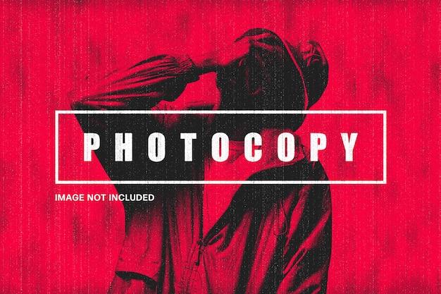 Szablon efektu fotokopii retro
