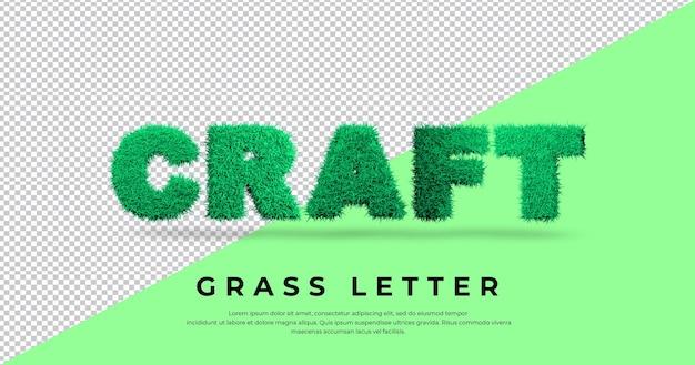 Szablon efektu litery trawy rzemieślniczej
