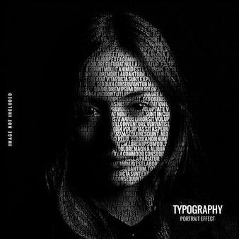 Szablon efektu portretu typografii