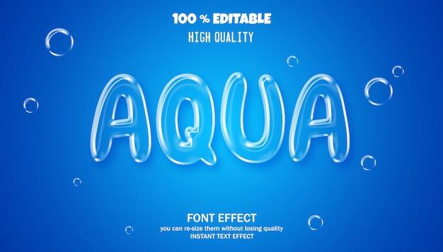 Szablon efektu stylu czcionki aqua