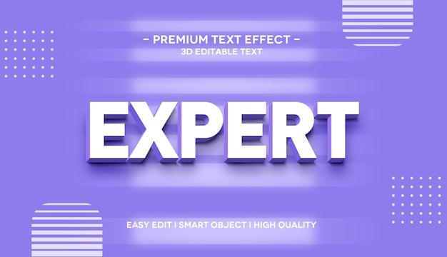 Szablon efektu stylu tekstu 3d eksperta