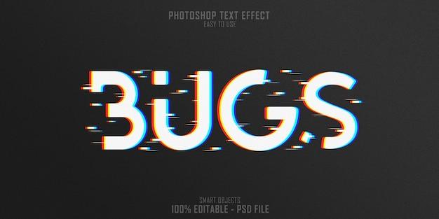 Szablon efektu stylu tekstu 3d web bugs