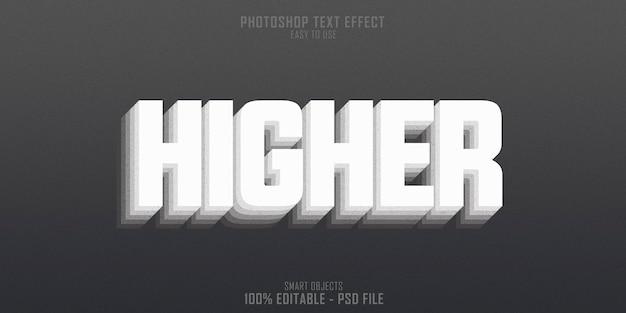 Szablon efektu stylu tekstu 3d wyższego poziomu