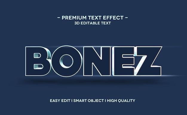 Szablon efektu stylu tekstu bonez 3d