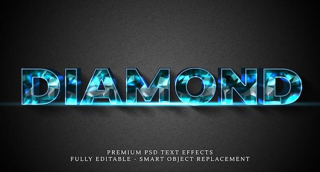 Szablon efektu stylu tekstu diamentowego