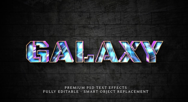 Szablon efektu stylu tekstu galaxy