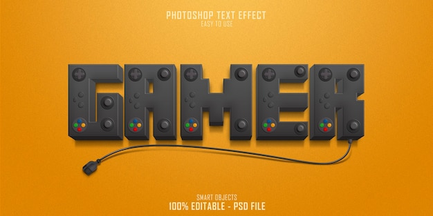 Szablon efektu stylu tekstu konsoli gracza