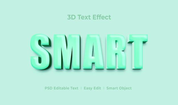 Szablon efektu stylu tekstu smart 3d