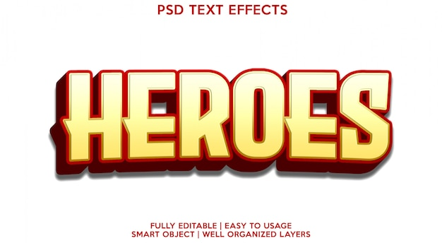 Szablon efektu tekstowego bohaterów