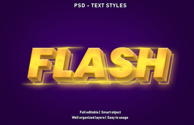 Szablon Efektu Tekstowego Flash Premium Psd