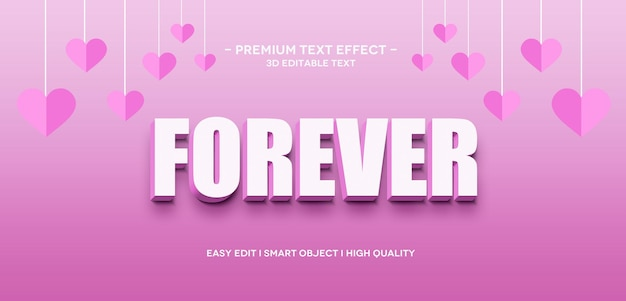 Szablon efektu tekstowego forever 3d