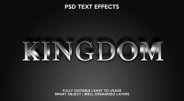 Szablon efektu tekstowego królestwa
