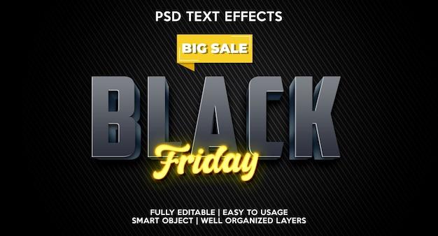 Szablon efektu tekstowego na czarny piątek