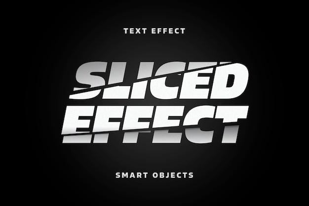 Szablon efektu tekstowego pokrojone litery