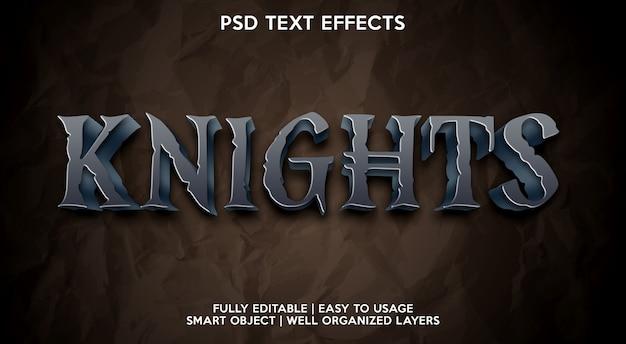 Szablon efektu tekstowego rycerzy