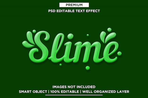 Szablon efektu tekstowego śluzu 3d
