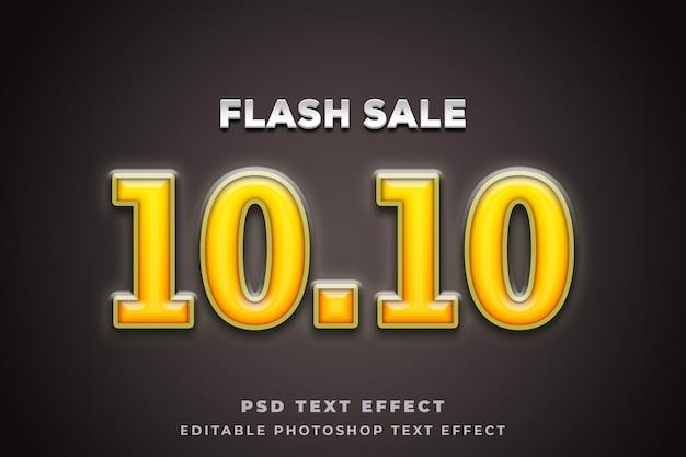 Szablon efektu tekstowego sprzedaży flash