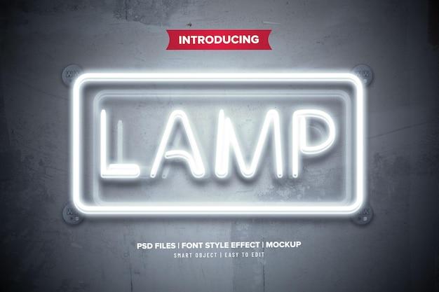 Szablon efektu tekstowego świecącej lampy