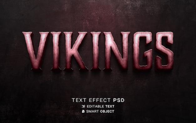 Szablon efektu tekstowego wikingów