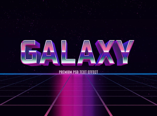 Szablon efektu tekstu gradientowego galaxy