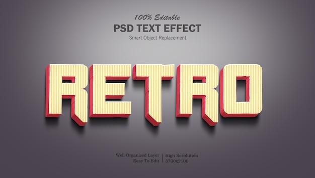 Szablon efektu tekstu retro gradientu 3d