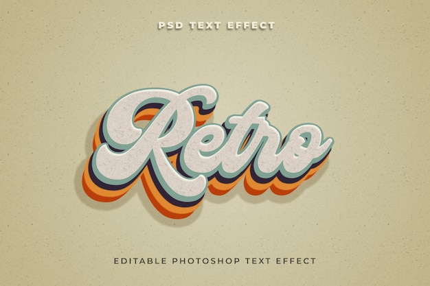 Szablon efektu tekstu retro w stylu 3d