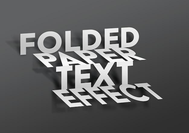 Szablon efektu tekstu składanego papieru