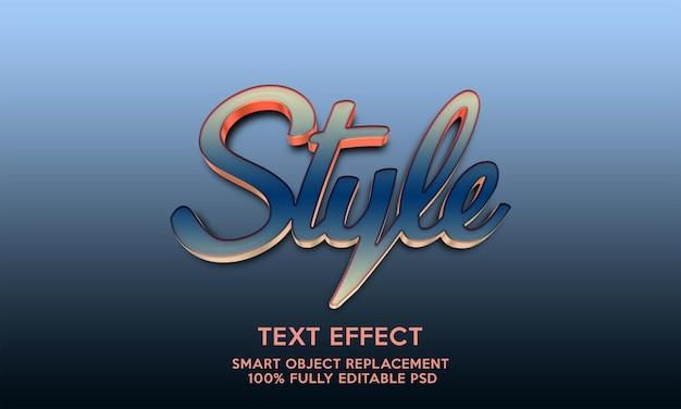 Szablon efektu tekstu w stylu