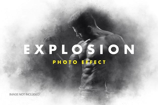 Szablon efektu zdjęcia wybuchu