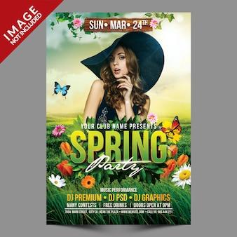 Szablon flyer spring party