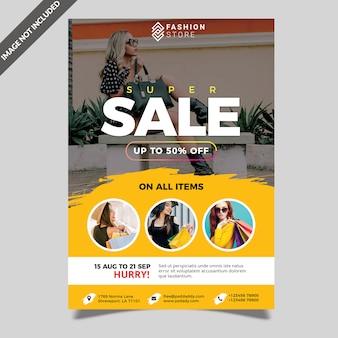 Szablon flyer sprzedaż lato moda