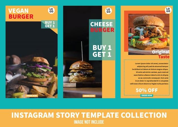 Szablon food story na instagramie