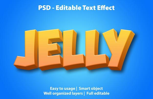 Szablon galaretki z efektem tekstowym