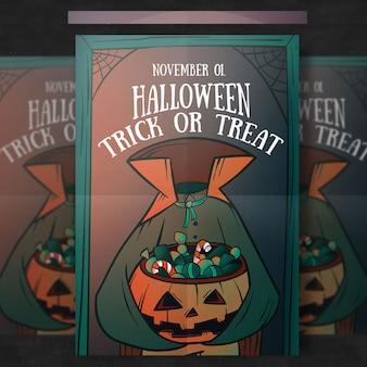 Szablon halloween party flyer