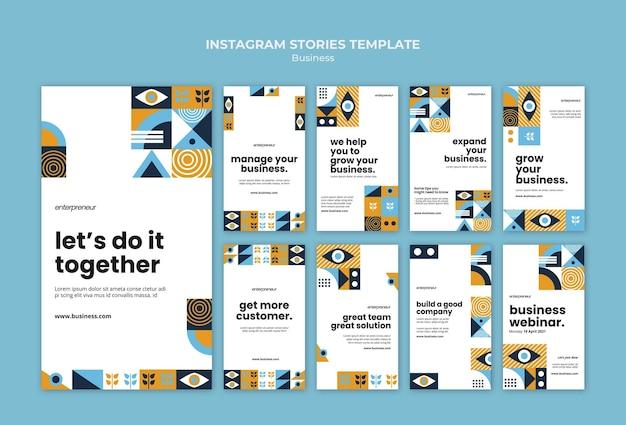 Szablon historii biznesu na instagramie