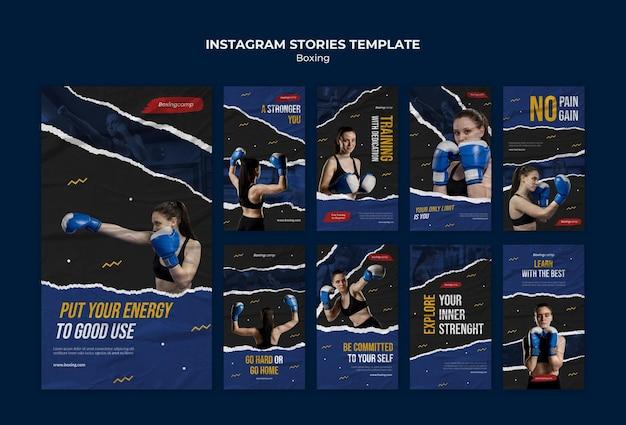 Szablon historii boksu na instagramie