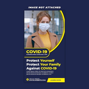 Szablon historii coronavirus instagram
