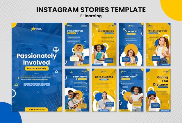 Szablon historii e-learningowych na instagramie