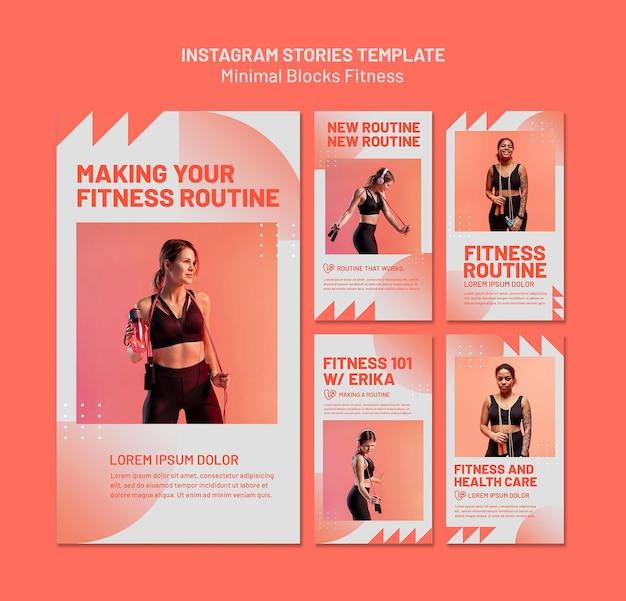 Szablon historii fitness na instagramie