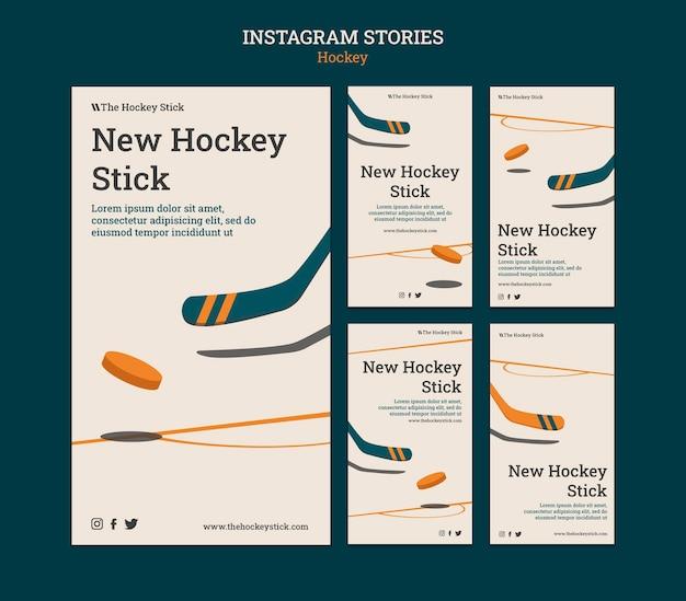 Szablon historii hokejowych na instagramie