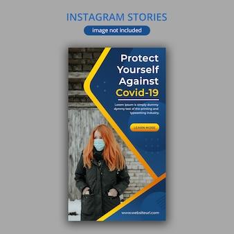 Szablon historii instagram coronavirus / covid-19