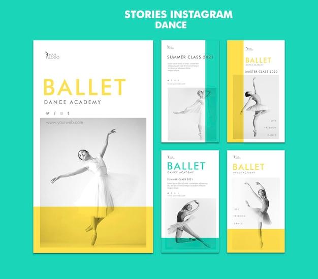 Szablon historii instagram dance academy