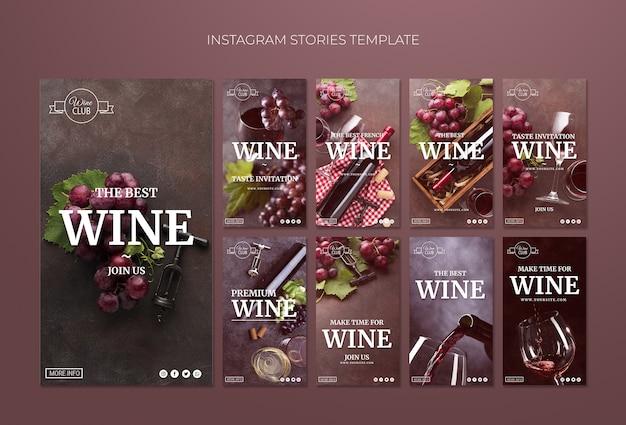 Szablon historii instagram degustacji wina