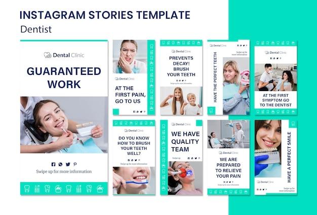 Szablon historii instagram dentysta