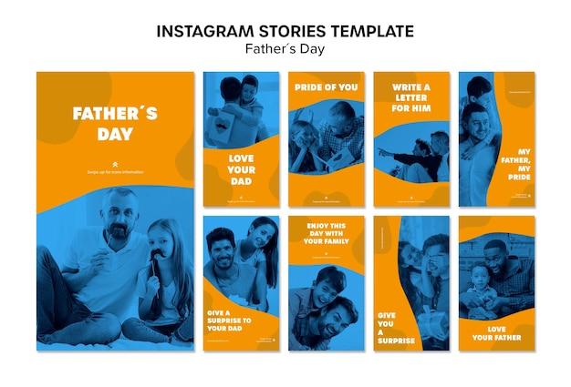 Szablon historii instagram kolorowy dzień ojca