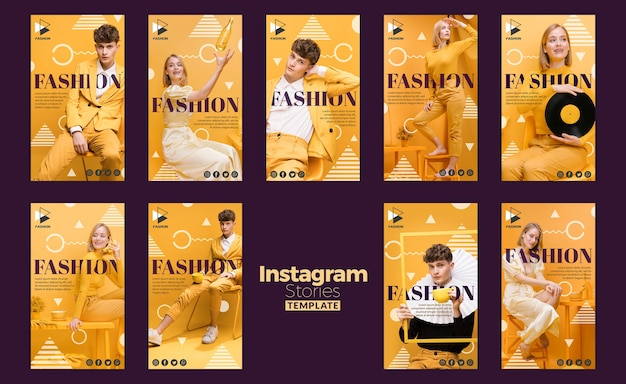 Szablon historii instagram mody